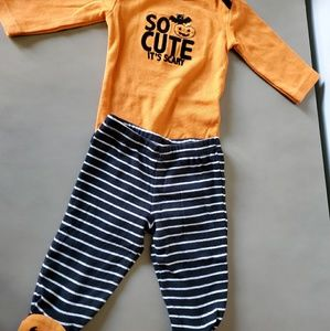 0-3 Months outfit - Halloween theme